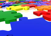 Multicolour puzzle close up — Stock Photo