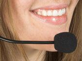 Customer service beautiful smile — Stock Photo