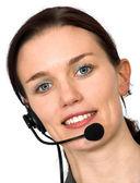 Beautiful customer support girl — Stock Photo