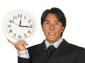 Business time management - man with glasses — Stock Photo