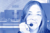 Business woman - contact support — Stock Photo