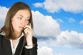 Business communications - sky — Stock Photo