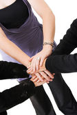 Business teamwork hands — Stock Photo