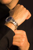 Business man - watch — Stock Photo
