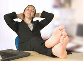 Business relaxation at the office — Stock Photo