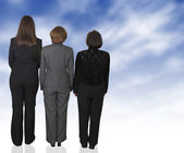 Business dream female backup team — Stock Photo