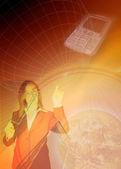 Biznes komunikacja tło — Zdjęcie stockowe