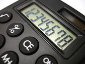 Calculator close up — Stock Photo