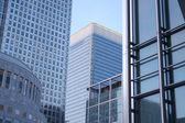 Canary wharf buildings — Stock Photo