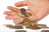 Spare change - pounds — Stock Photo