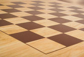 Chess board perspective — Stock Photo
