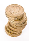British pound coins — Stock Photo