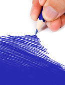 Blue color drawing — Stock Photo