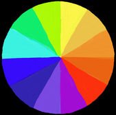 Colour wheel painted — Stock Photo