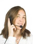 Friendly customer services - sales representative — Stock Photo