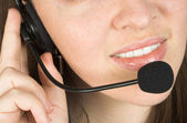 Customer services close up — Stock Photo
