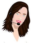 Customer service illustration — Stock Photo
