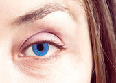 Blue eye close up — Stock Photo
