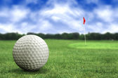 Golf ball in a course — 图库照片
