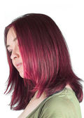Pretty woman with couloured hair — ストック写真
