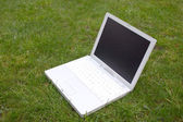 White laptop — Stock Photo