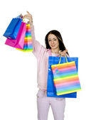 Pretty teen with her shopping — Stock Photo