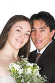 Bride and groom, just married! — Stock Photo