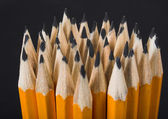 Pencils over black — Stock Photo