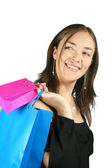 Girl with shopping bags - sally — Stock Photo