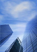 Corporate buildings - sky is the limit — Stock Photo