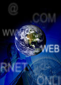 Blue business worldwide — Stock Photo