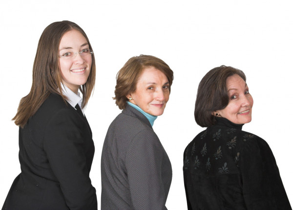 Business management femenino equipo sonriendo — Foto de Stock