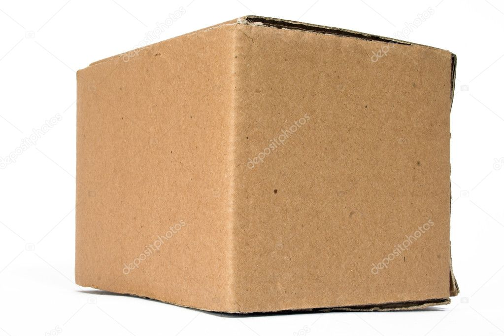 Blank cardboard box - good for applying images or text on it — Stock Photo #7633395