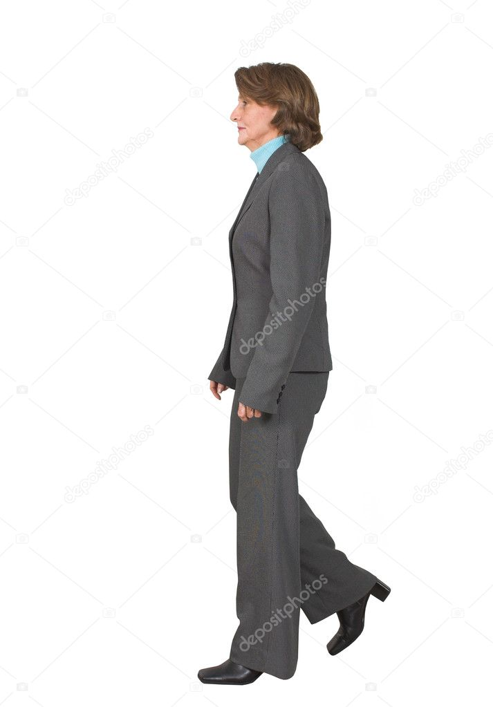 Business woman walking from right to left — Stock Photo #7633587