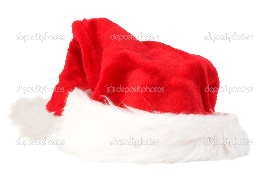 Christmas hat over a white background — Stock Photo #7634227