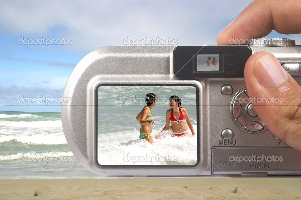 Digital camera taking picture — Stock Photo #7634459