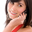 Casual woman on the phone — Stock Photo #7642634