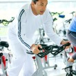 Gym man exercising — Stock Photo #7642642