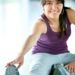 Gym woman exercising — Stock Photo
