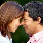 Happy couple outdoors — Stock Photo #7642655