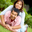Happy couple outdoors — Stock Photo #7642656