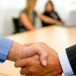 Business deal - handshake — Stock Photo
