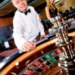 Man gambling at the casino — Stock Photo