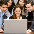 Business team on a laptop — Stock Photo #7642705
