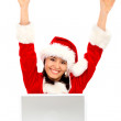 Successful christmas girl — Stock Photo