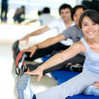 Royalty-Free Stock Photo: At the gym