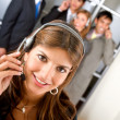 Stock Photo: Customer services representative team