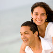 Happy couple at the beach — Stock Photo #7642773