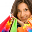 Beautiful girl with shopping bags — Stock Photo #7642802