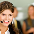 Business support woman — Stock Photo